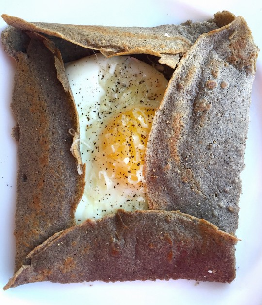 Picture of Buckwheat Galette with egg and cheese
